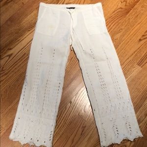Victoria's Secret off white linen pants size 0